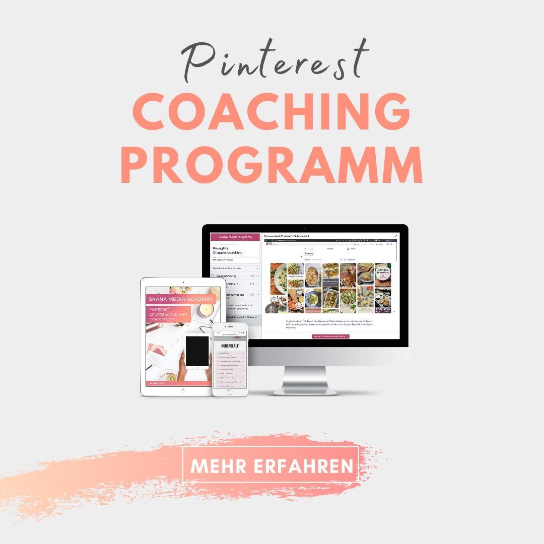 Werde zum Pinterest Profi mit diesem mehrwöchtigen Pinterest Training