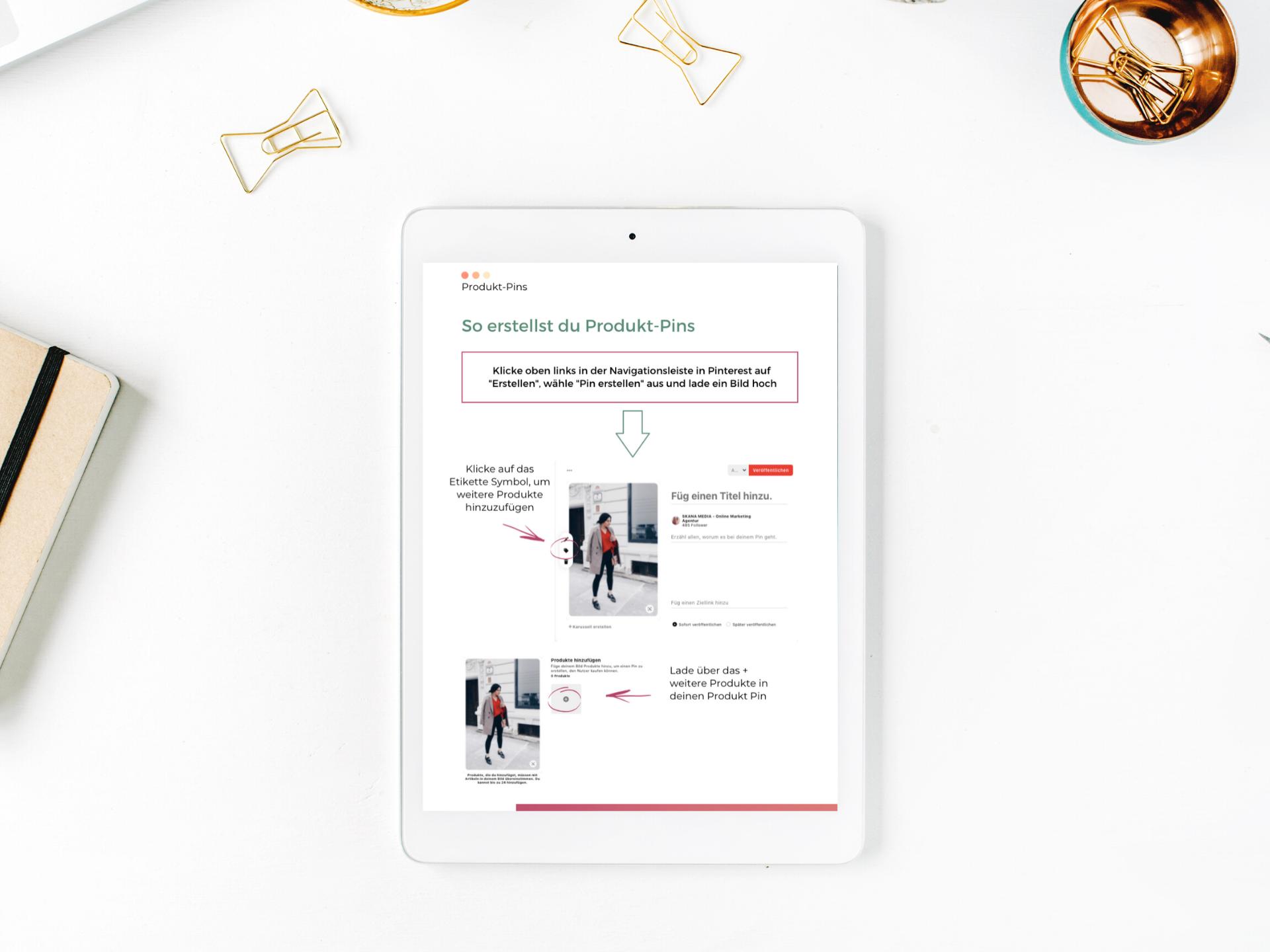 Produkt Pins in Pinterest hochladen - eine ausführliche kostenlose Anleitung