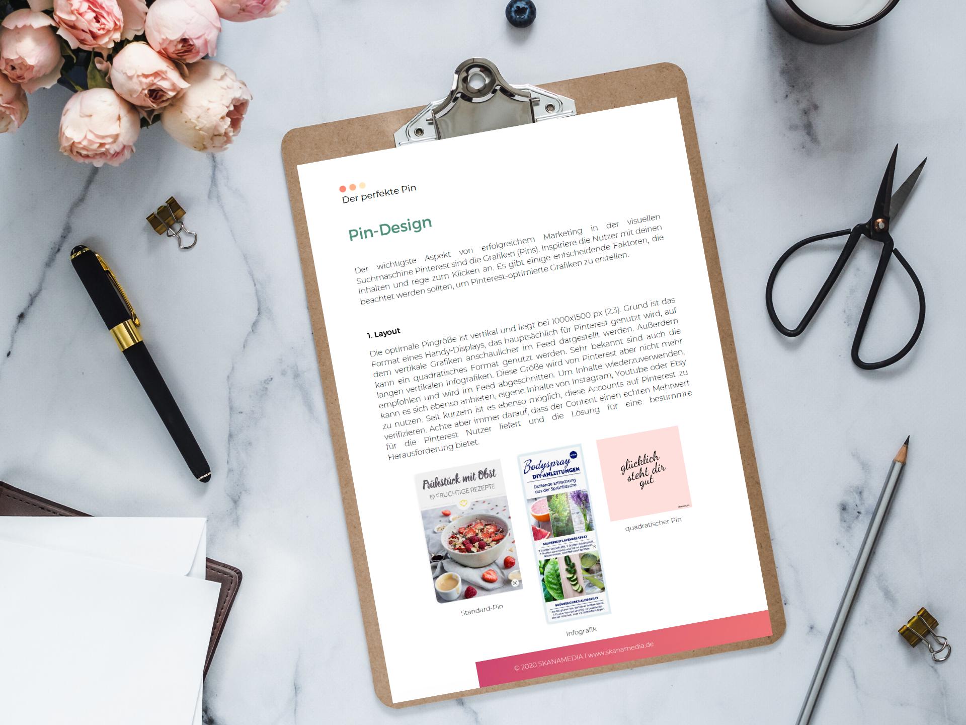 Design Tipps für dein optimales Pin Design auf Pinterest - kostenloses PDF