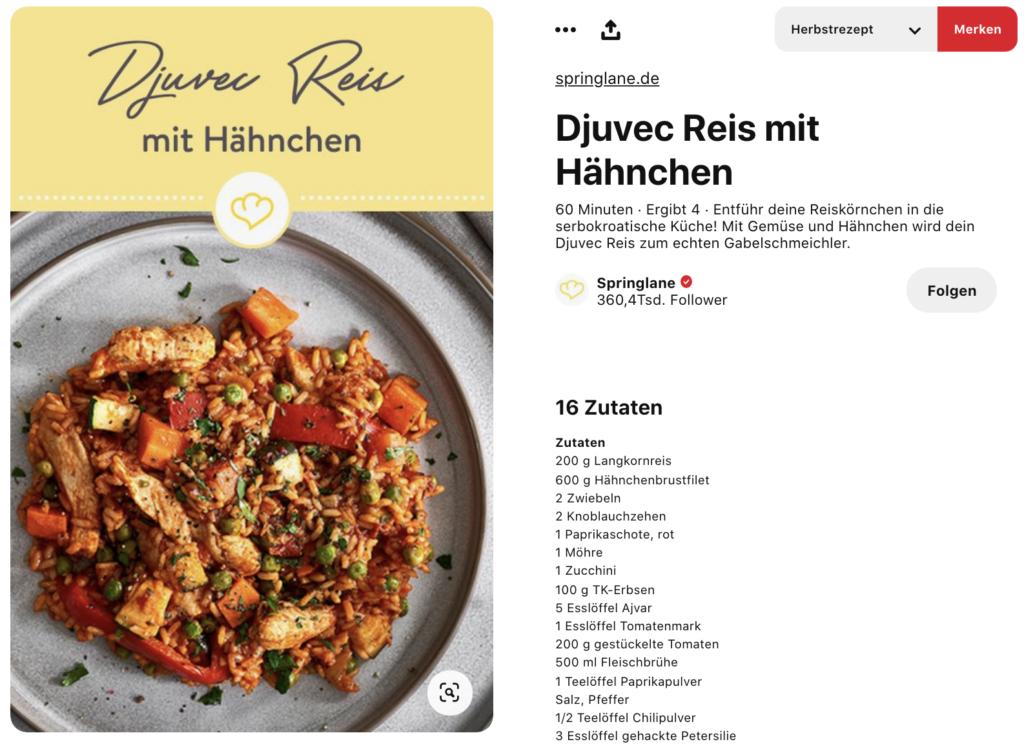 Anleitung, um Rezepte Rich Pins in Pinterest zu verifizieren