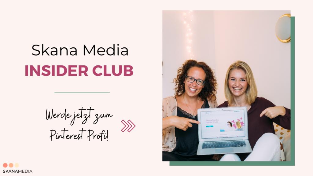 Skana Media Insider Club-Mitglieder Bereich für Pinterest Fortgeschrinnene-Pinterest Strategien-Online Kurs-Q&A